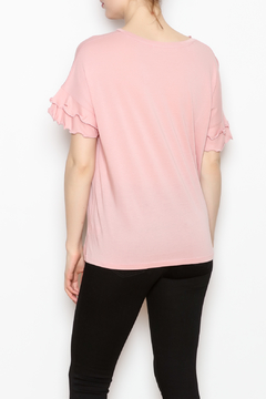 Double Zero Ruffle Sleeve Tee - Alternate List Image