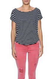 Double Zero Striped Tee - Side cropped