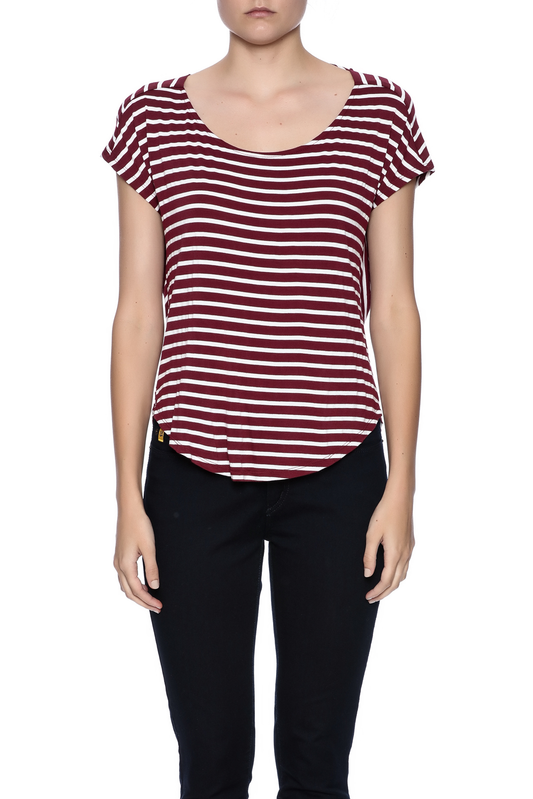 Double Zero Striped Tee - Side Cropped Image