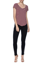 Double Zero Striped Tee - Front full body