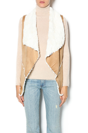 Double Zero Tan Shearling Vest - Product Mini Image