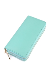 Riah Fashion Double Zip Wallet - Front cropped