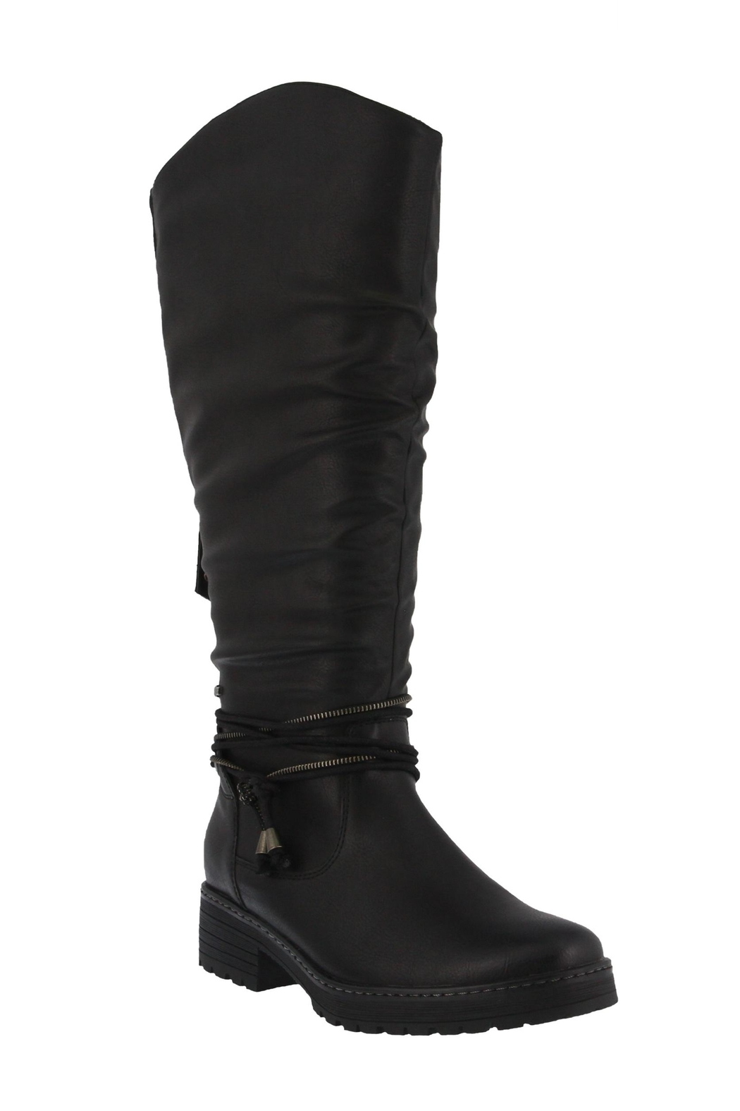 Spring Footwear Double Zipper Boot - Front Cropped Image