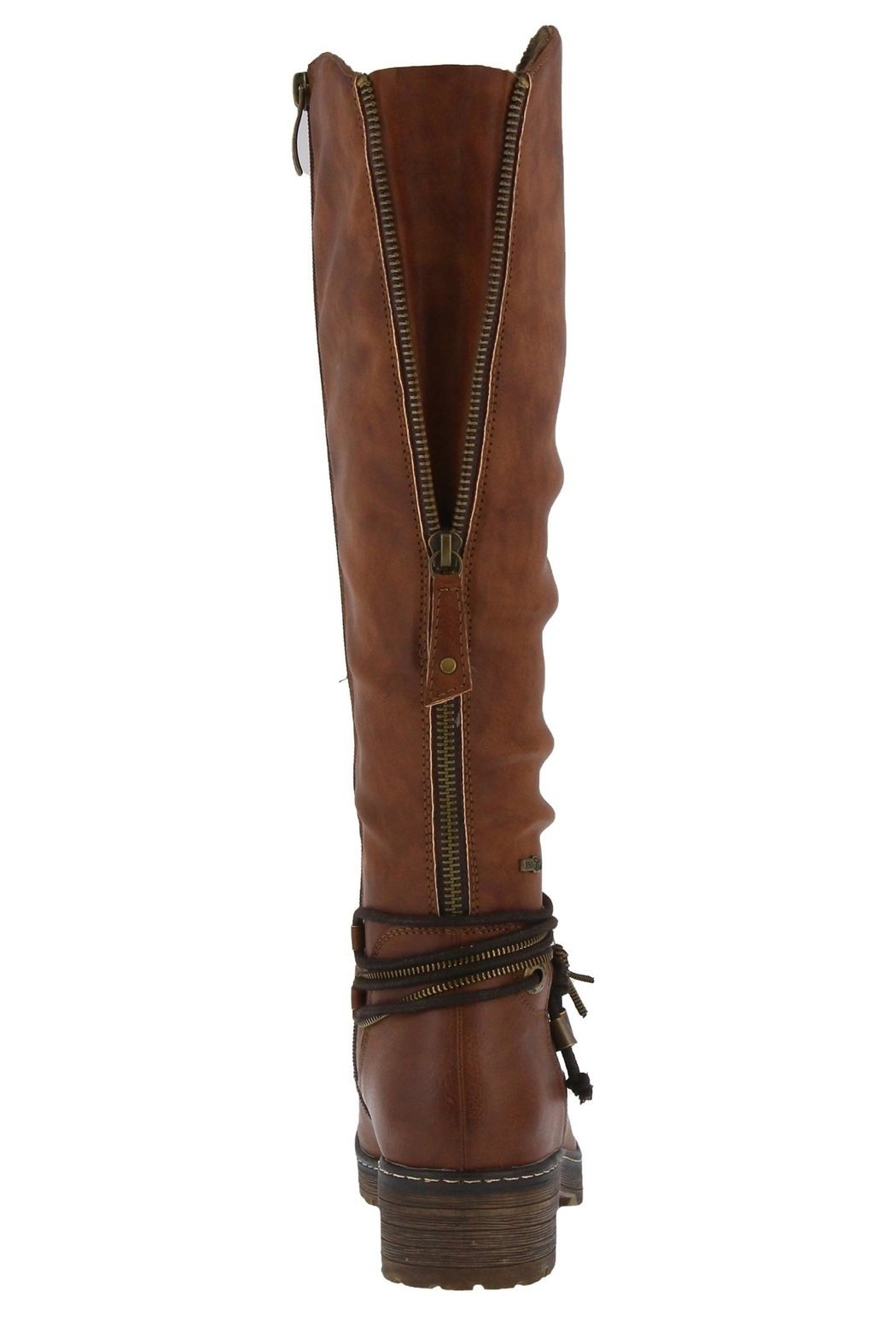 Spring Footwear Double Zipper Boot - Front Full Image