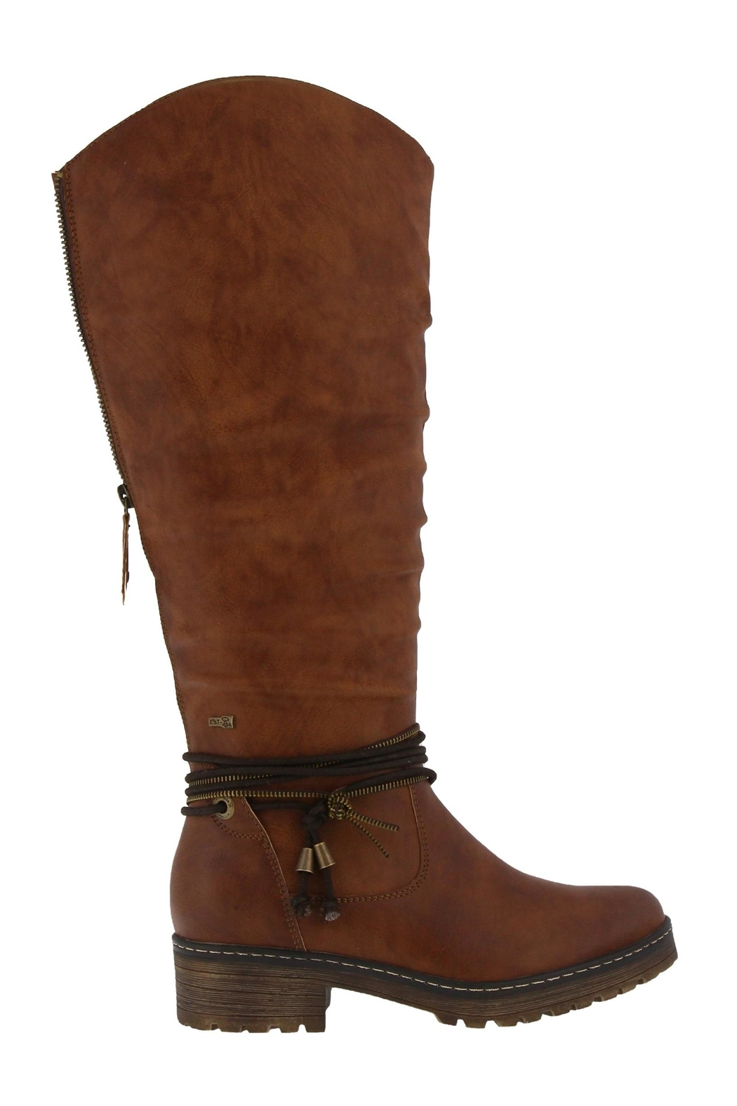 Spring Footwear Double Zipper Boot - Side Cropped Image