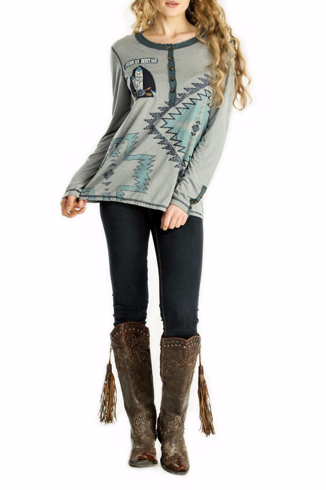 Double D Ranchwear American Heritage Tunic Top - Main Image