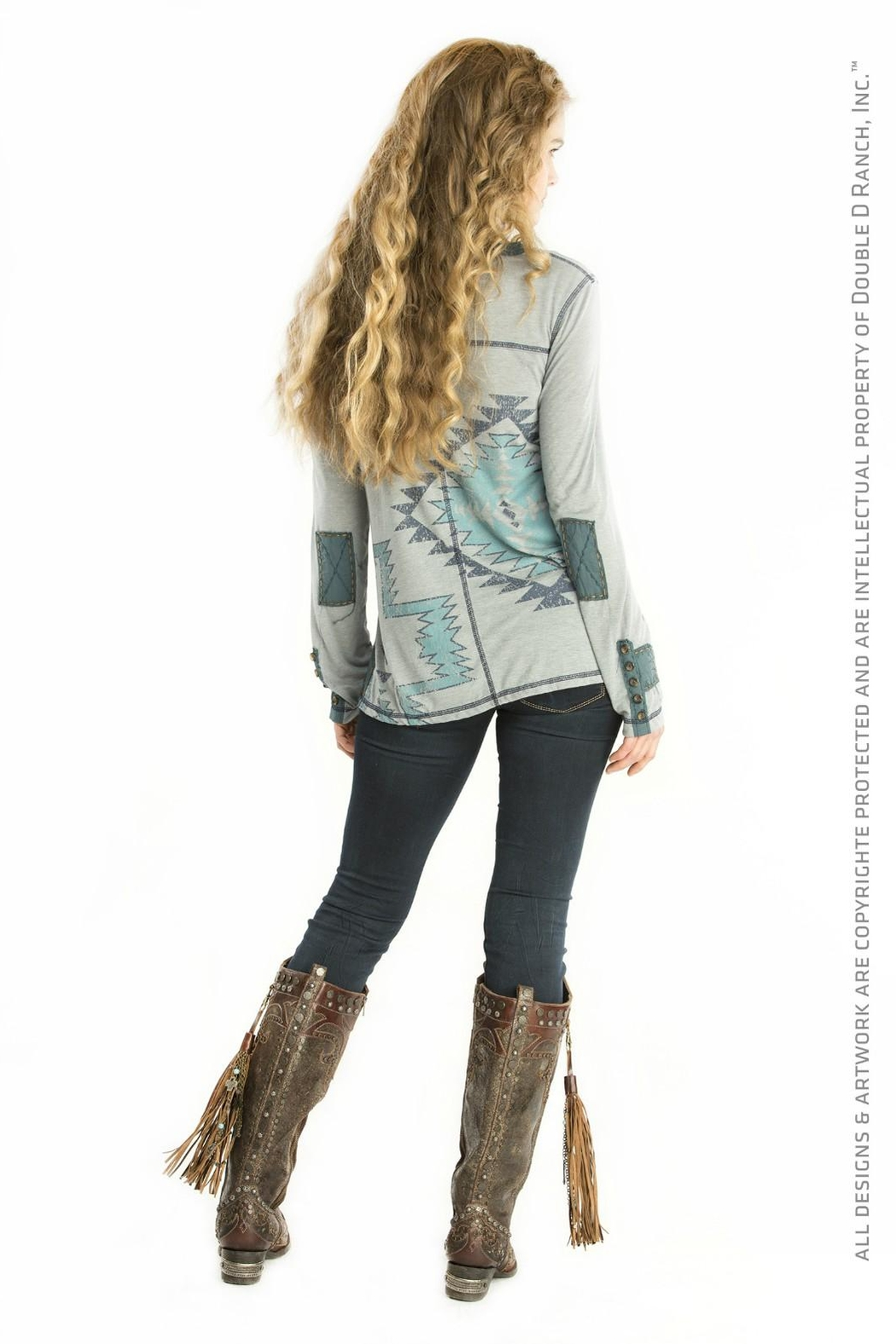 Double D Ranchwear American Heritage Tunic Top - Front Full Image