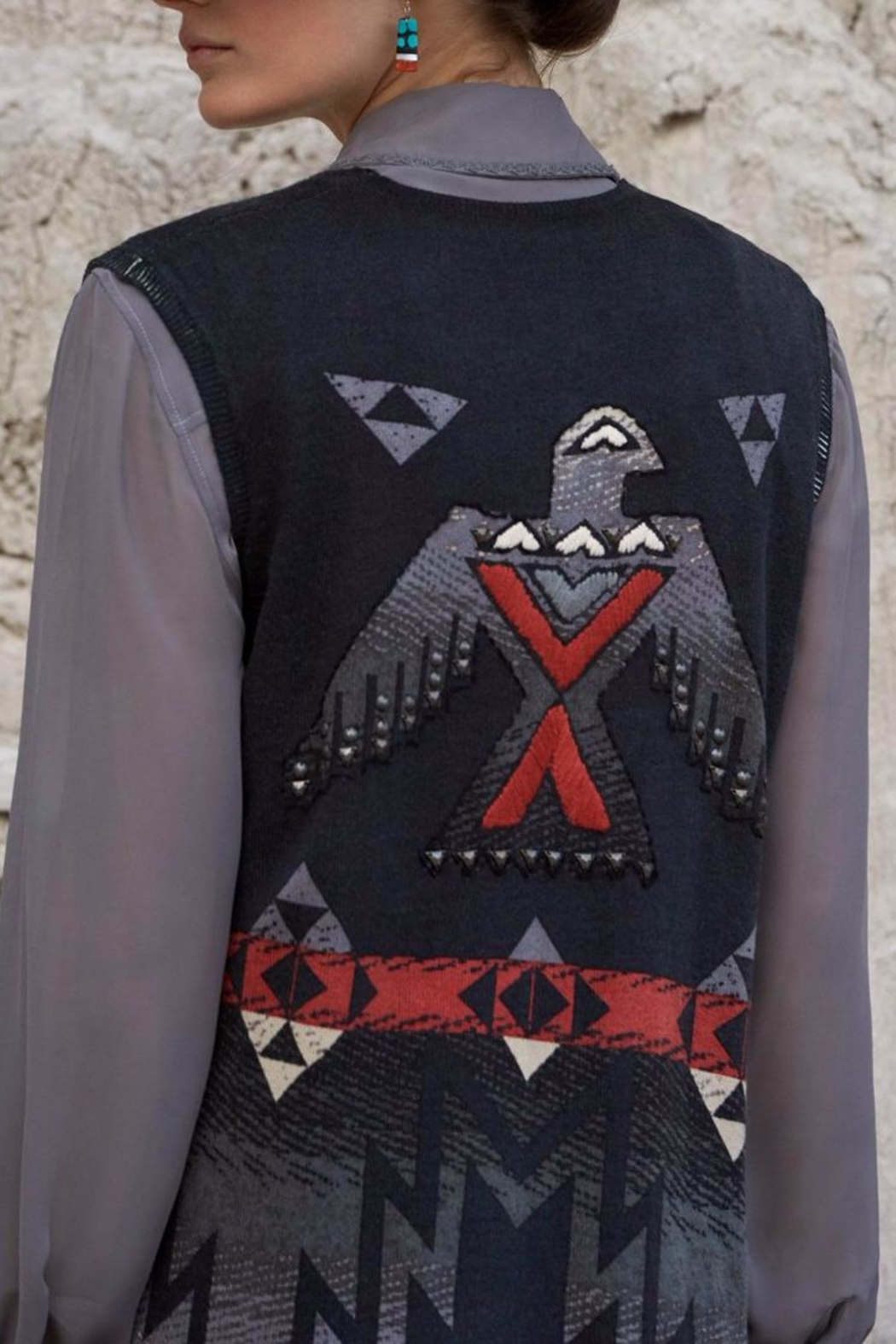 Double D Ranchwear Duster Vest - Front Full Image