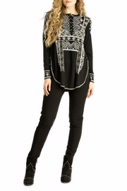 Double D Ranchwear Embroidered Henley Tunic - Product Mini Image