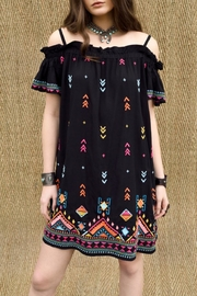 Double D Ranchwear Embroidered Shoulder Dress - Product Mini Image