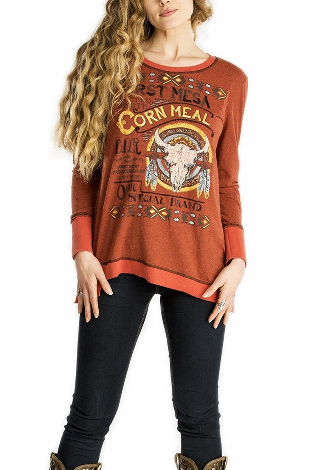 Double D Ranchwear First-Mesa Corn-Meal Top - Main Image