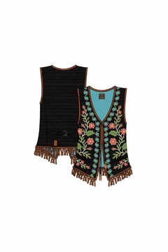 Double D Ranchwear Floral Beaded Vest - Alternate List Image