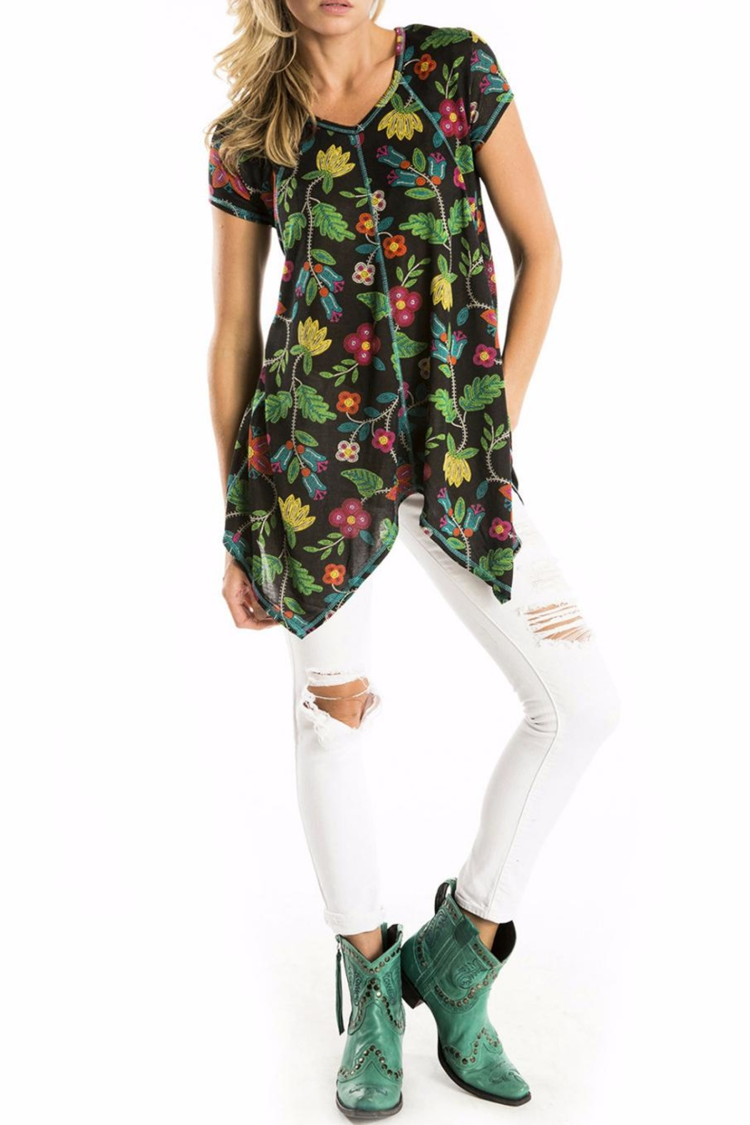 Double D Ranchwear Floral Tunic - Main Image