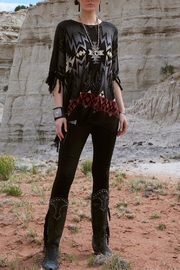 Double D Ranchwear Fringed Poncho Top - Front full body