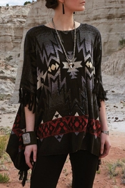 Double D Ranchwear Fringed Poncho Top - Front cropped