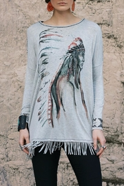Double D Ranchwear Fringed Tunic:  Indian - Front cropped