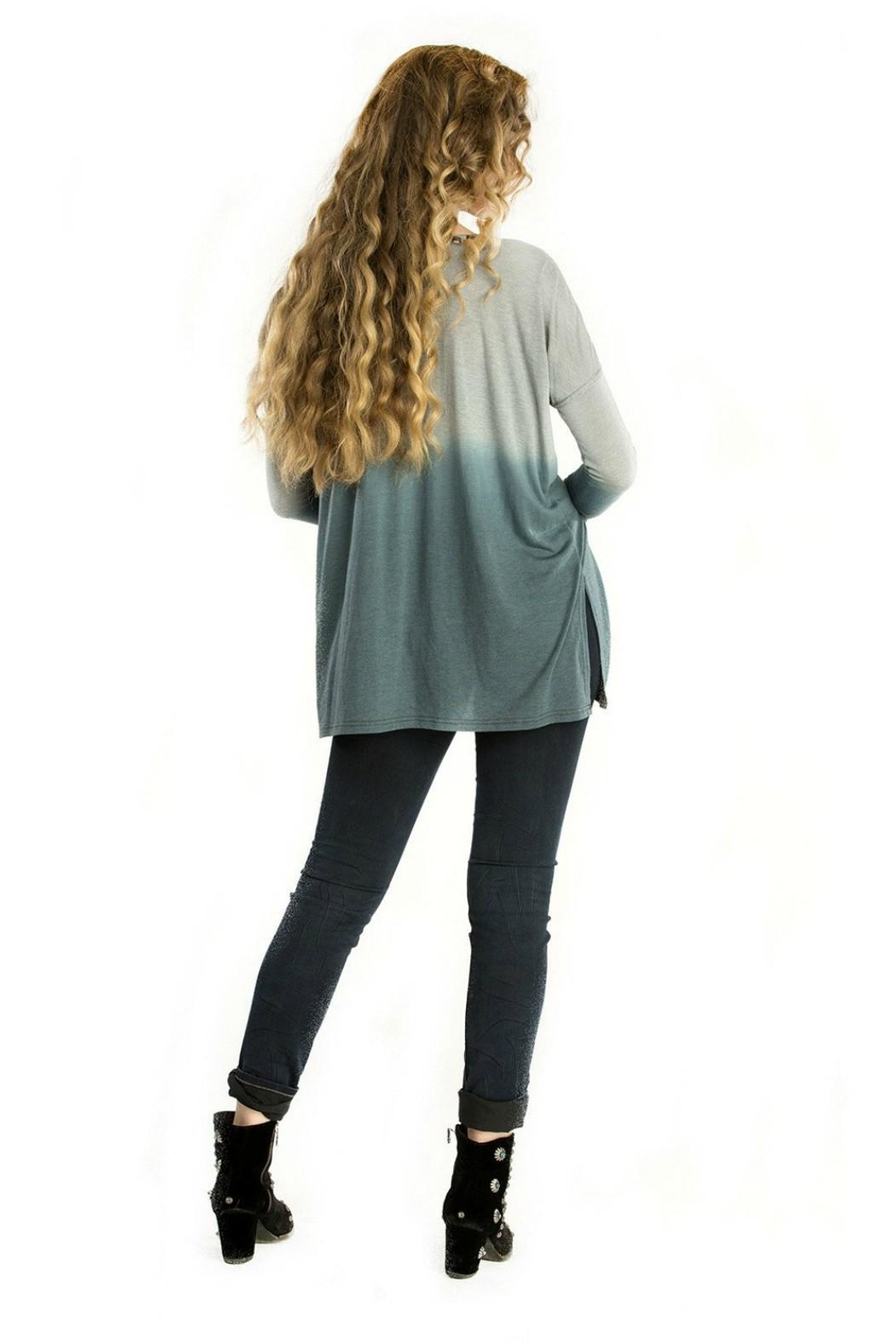 Double D Ranchwear Geometric Embroidered Tunic - Front Full Image