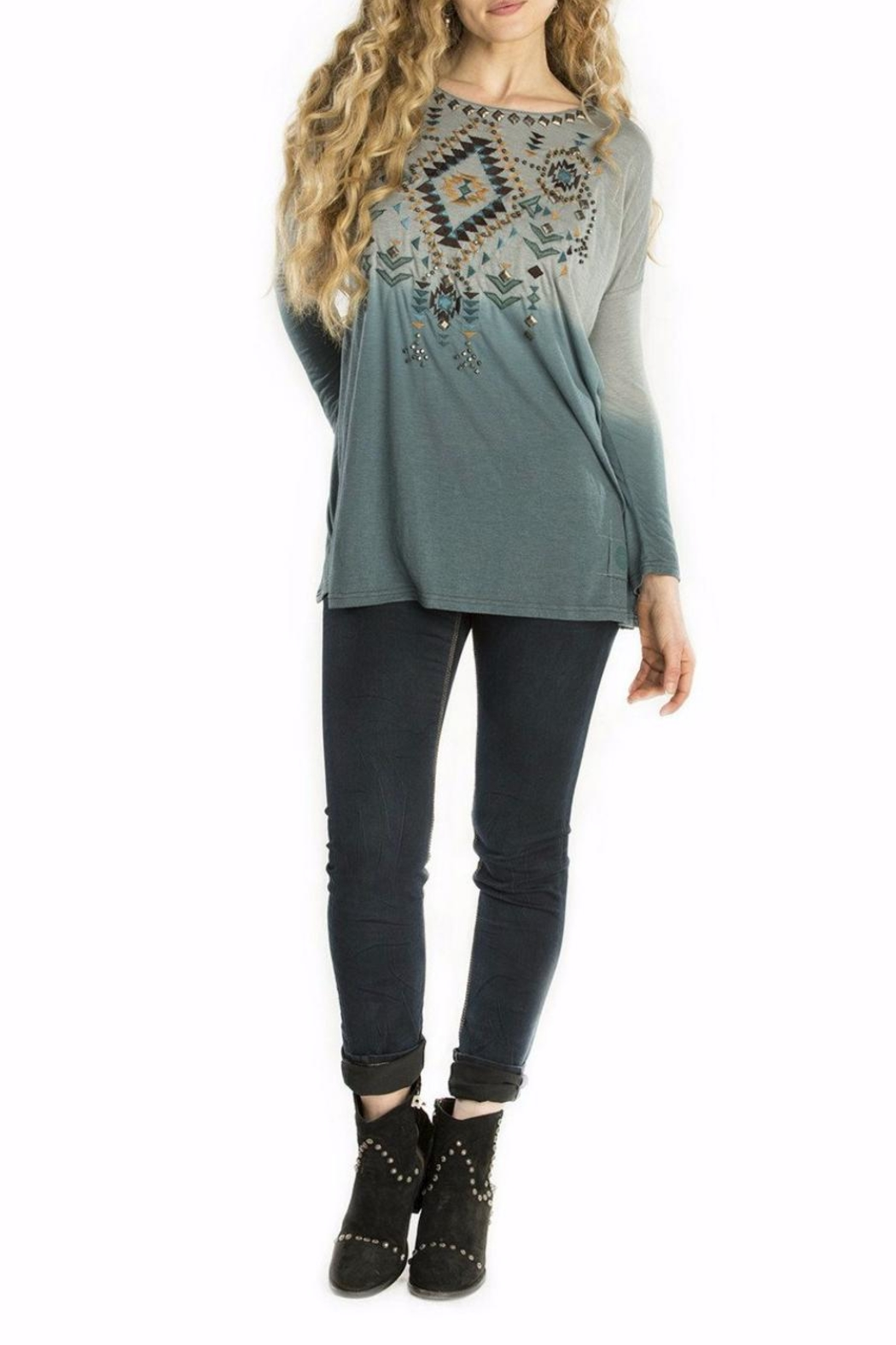 Double D Ranchwear Geometric Embroidered Tunic - Main Image