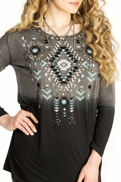 Double D Ranchwear Geometric Embroidered Tunic - Alternate List Image