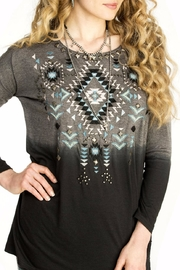 Double D Ranchwear Geometric Embroidered Tunic - Side cropped