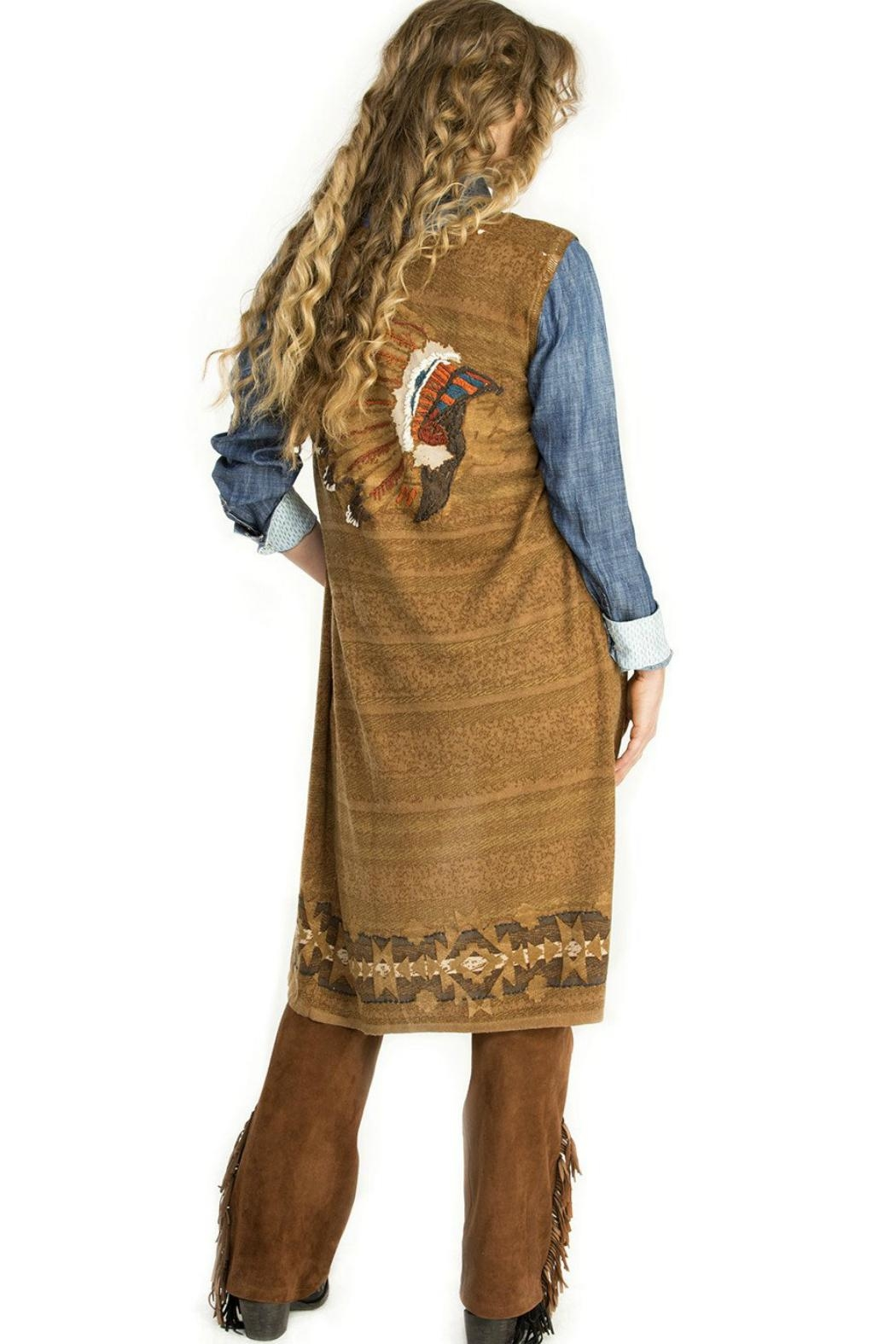 Double D Ranchwear Indian Chief Vest - Front Cropped Image