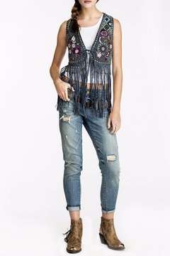 Double D Ranchwear Leather Fringe Vest - Product List Image