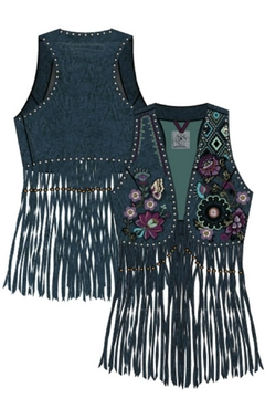 Double D Ranchwear Leather Fringe Vest - Alternate List Image