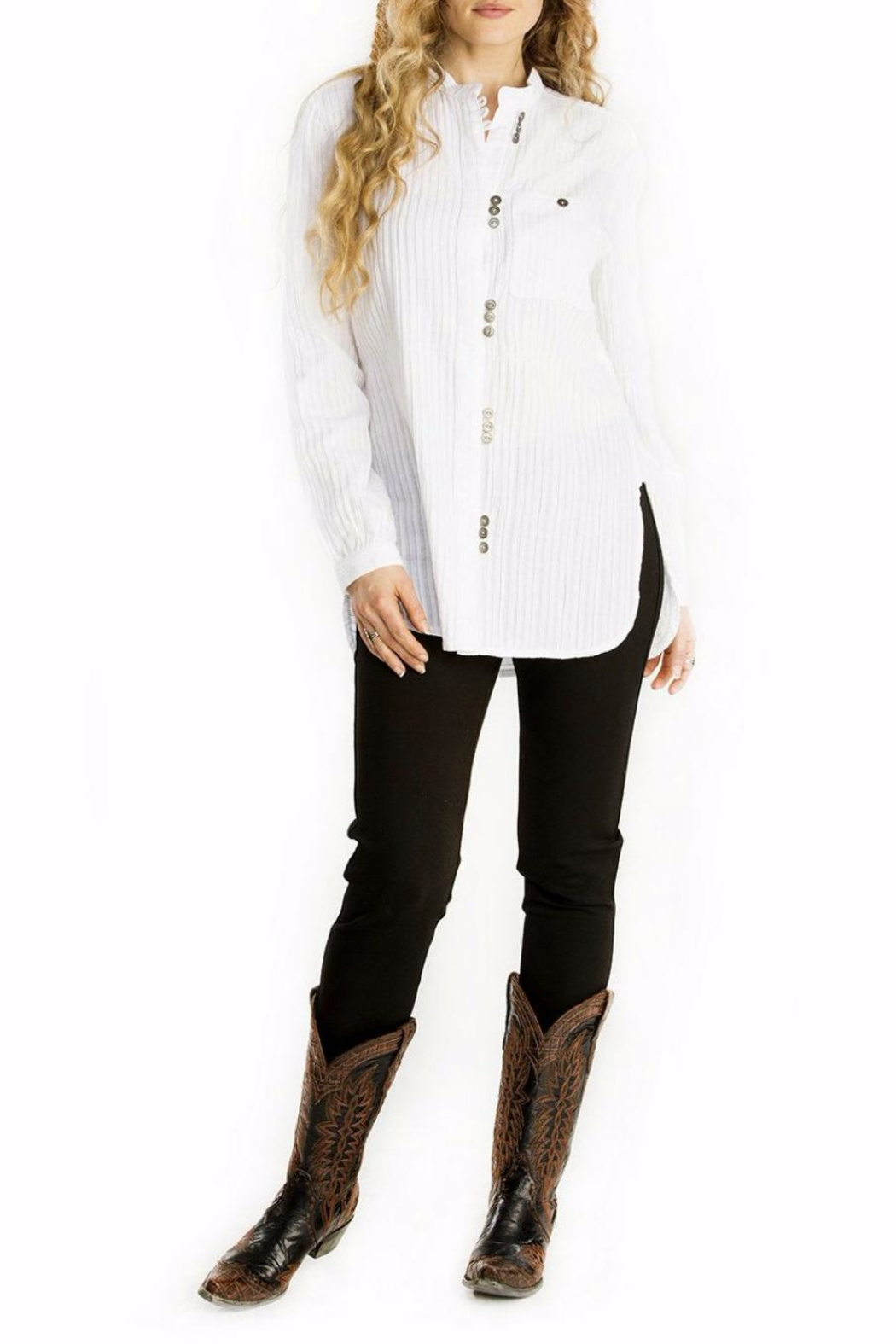 Double D Ranchwear Mandarin Collar Tunic - Main Image