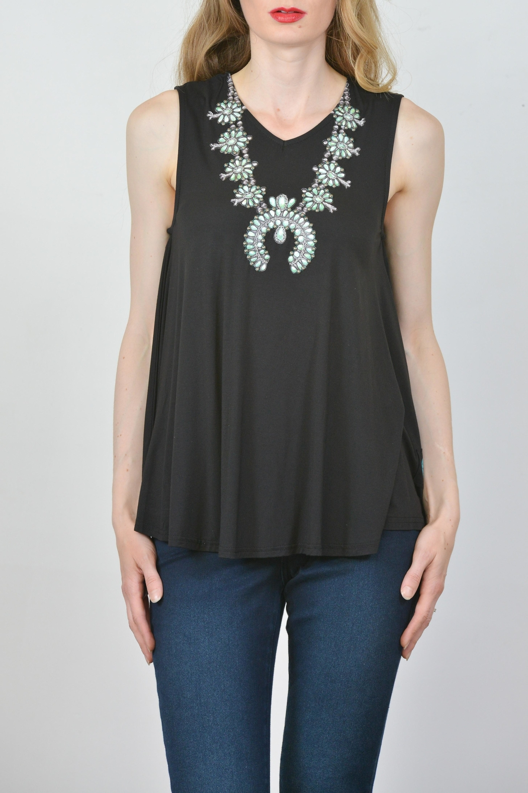 Double D Ranchwear Necklace Western Tunic - Side Cropped Image