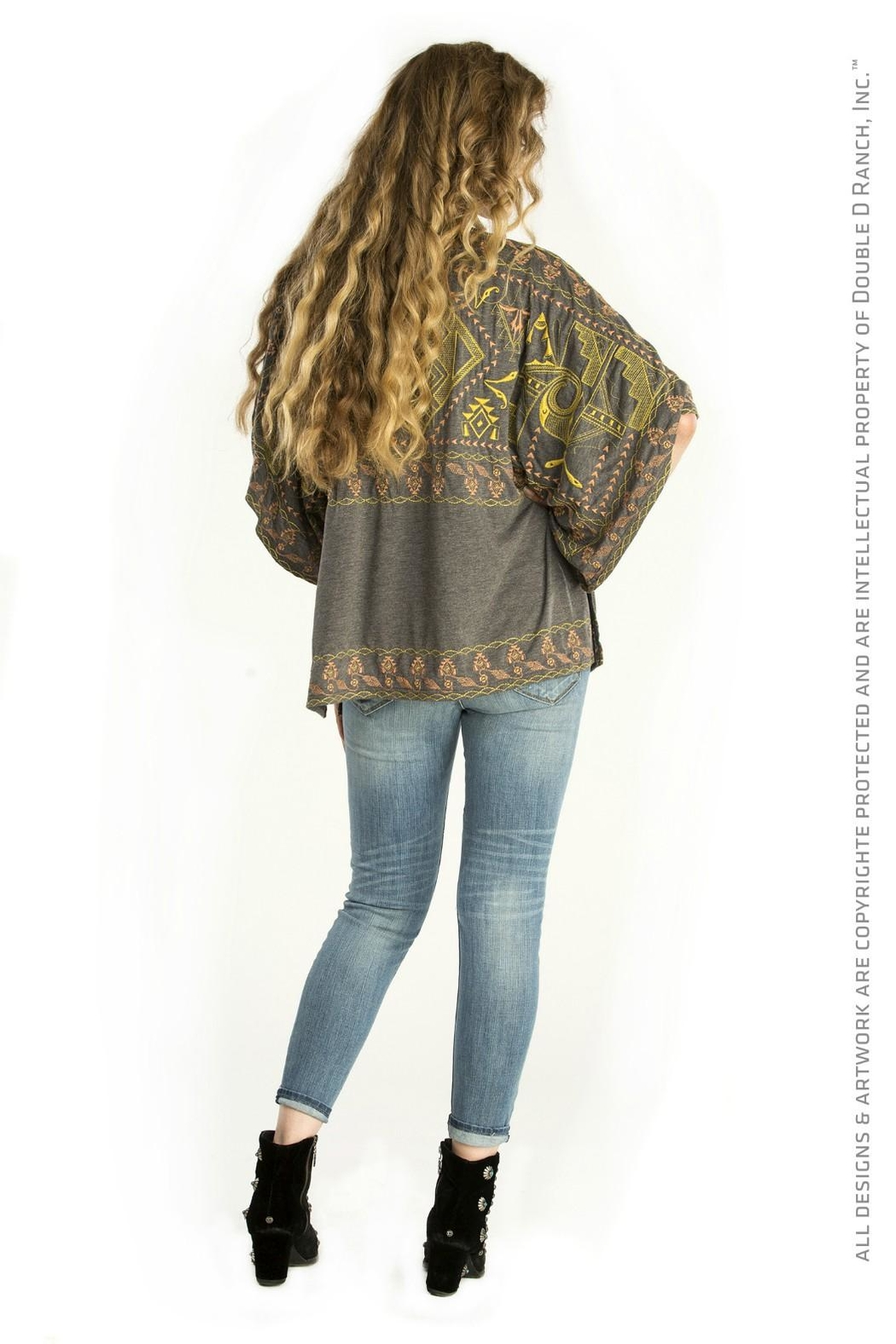 Double D Ranchwear Oversize Embroidered Tunic Top - Front Full Image