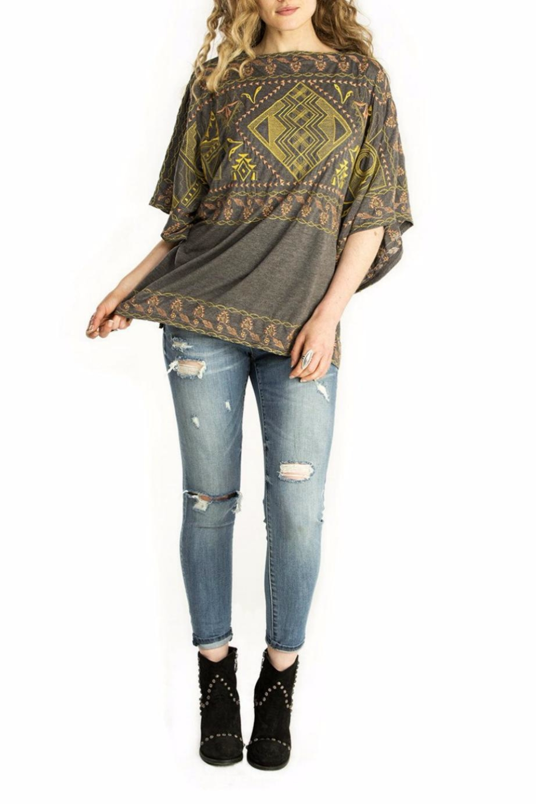 Double D Ranchwear Oversize Embroidered Tunic Top - Main Image