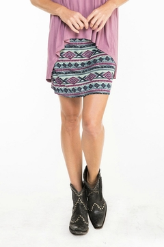 Double D Ranchwear Print Mini Skirt - Alternate List Image