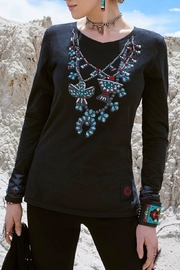 Double D Ranchwear Squash-Blossom Necklace Tee - Front cropped