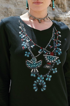 Double D Ranchwear Squash-Blossom Necklace Tee - Alternate List Image