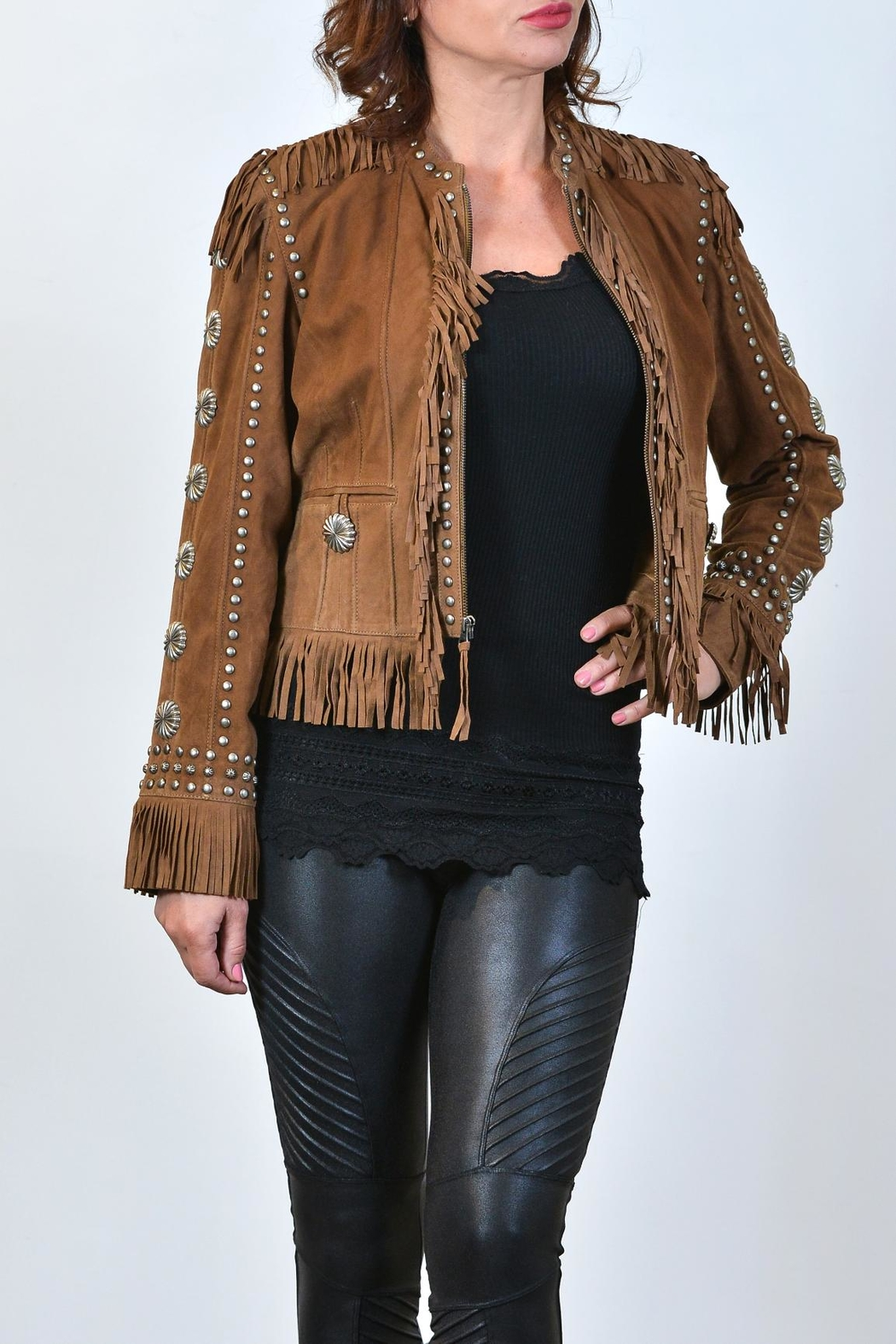 Double D Ranchwear Suede Fringe Jacket - Side Cropped Image