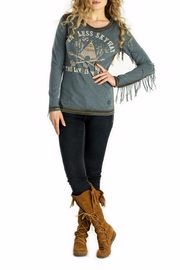 Double D Ranchwear Tee With Fringe - Product Mini Image