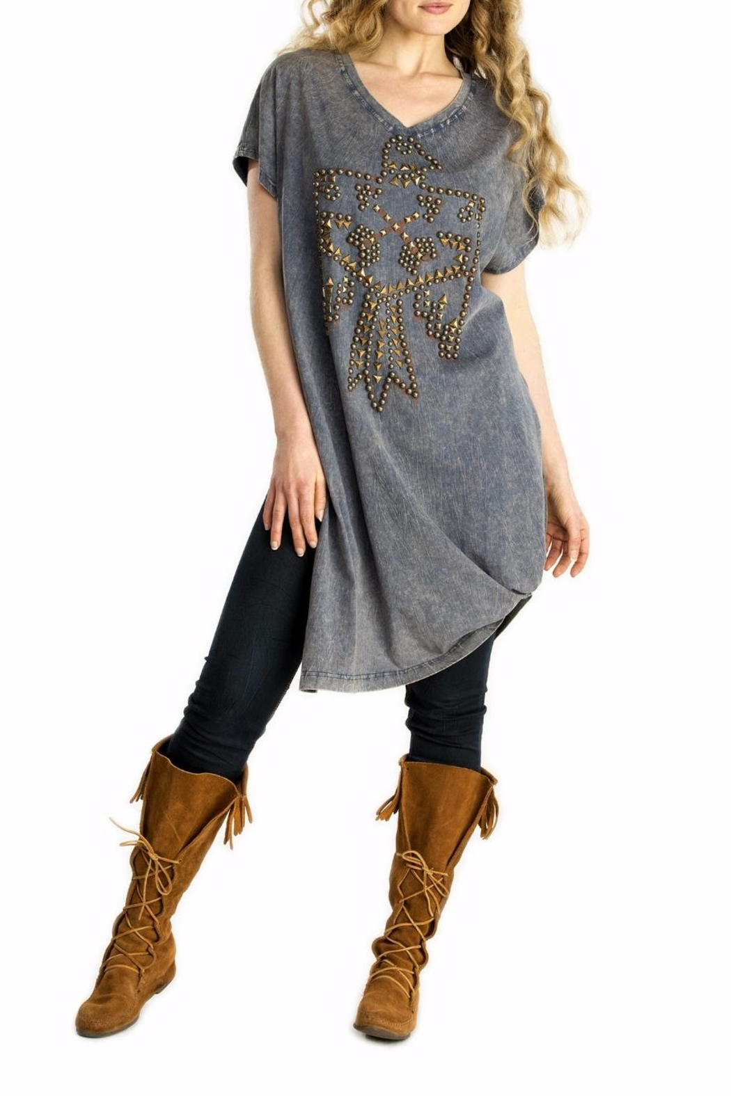 Double D Ranchwear Thunderbird Embellished Tunic - Main Image