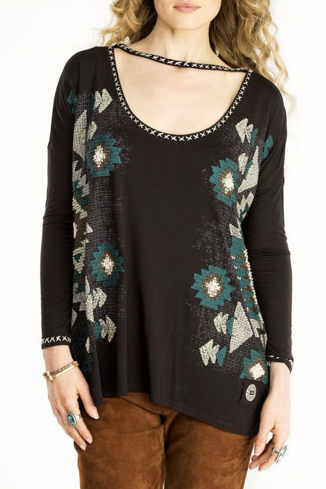 Double D Ranchwear Top With Choker - Main Image