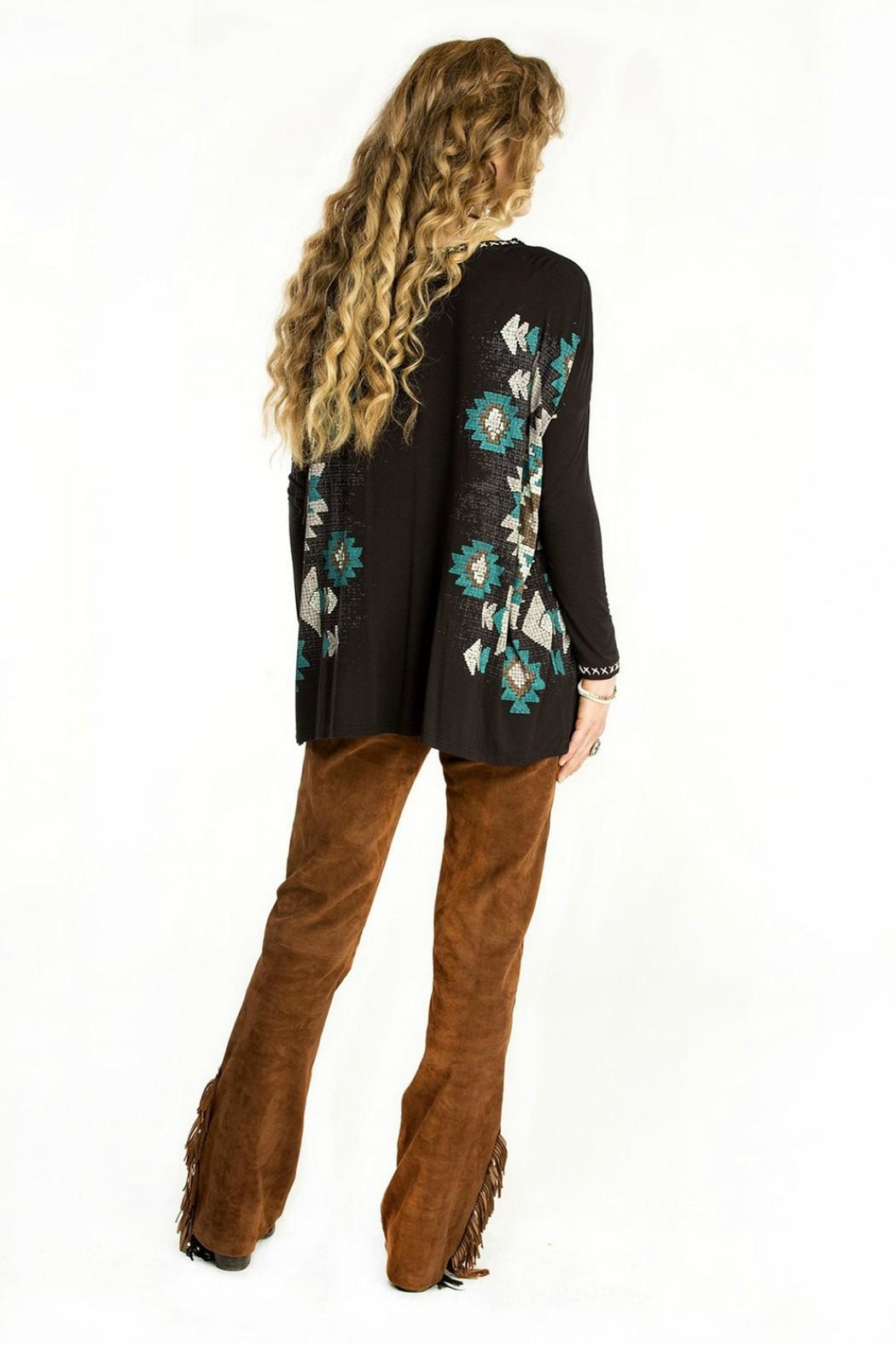 Double D Ranchwear Top With Choker - Front Full Image