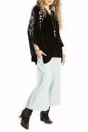 Double D Ranchwear Velvet Poncho Top - Front cropped