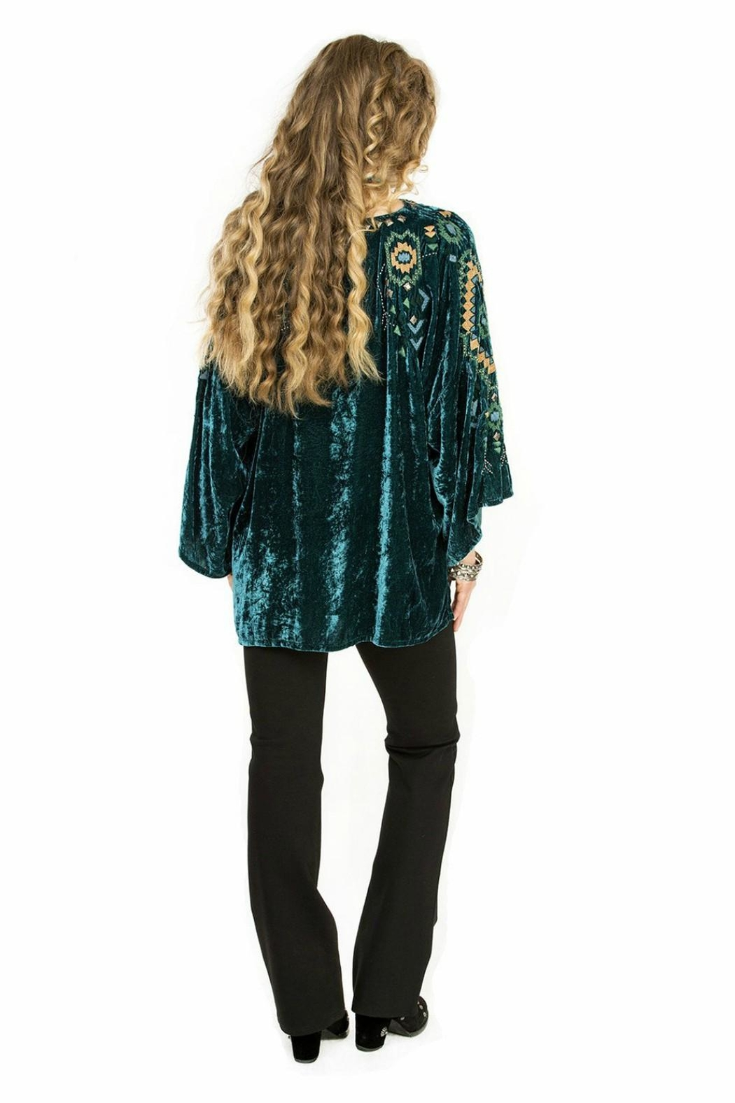 Double D Ranchwear Velvet Poncho Tunic Top - Side Cropped Image