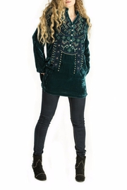 Double D Ranchwear Velvet Tunic Top - Front cropped