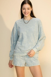 Double Zero Acid Wash Oversized Sweatshirt - Front cropped