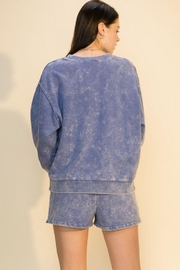 Double Zero Acid Wash Oversized Sweatshirt - Front full body