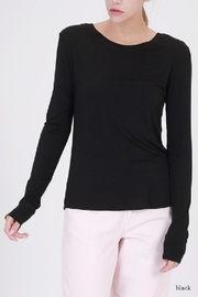 Double Zero Boat Neck Top - Product Mini Image