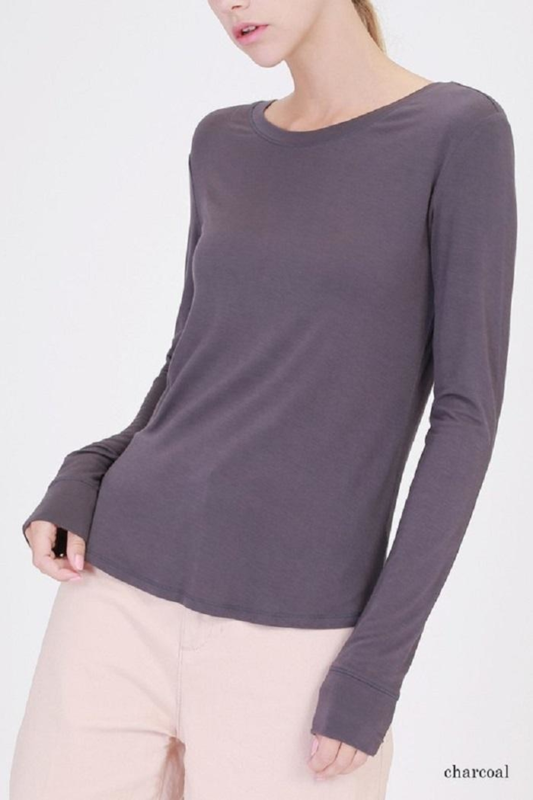 Double Zero Boat Neck Top - Front Cropped Image