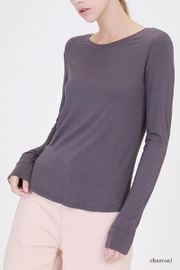 Double Zero Boat Neck Top - Front cropped