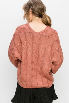 Double Zero Cable Knit Sweater - Alternate List Image