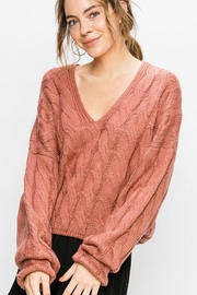 Double Zero Cable Knit Sweater - Product Mini Image