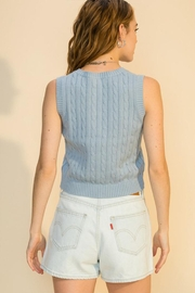 Double Zero Cable Sweater Vest - Front full body